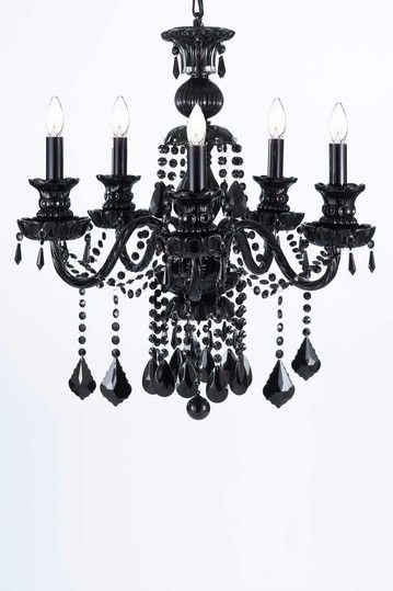 Jet black crystal chandelier by gallery chandeliers home sweet jet black crystal chandelier by gallery chandeliers mozeypictures Images