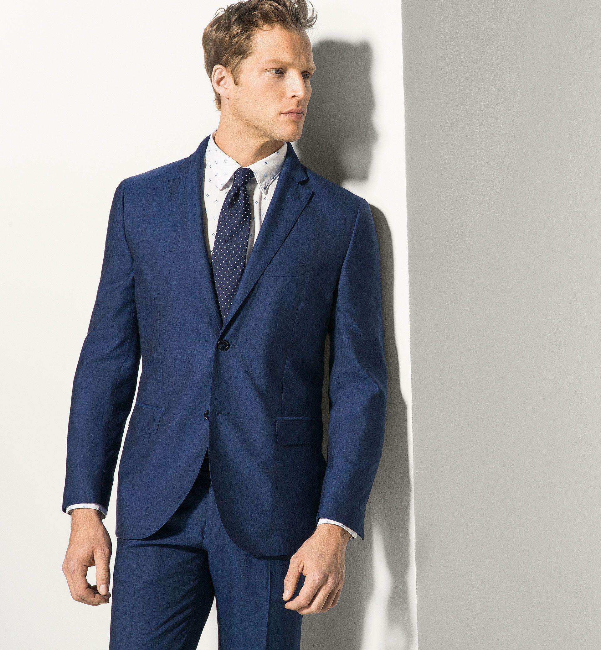 Americana Lana Plana Azul Ver Todo Trajes Men Costa Rica Massimo Dutti Navy Suit Massimo Dutti Latest Trends
