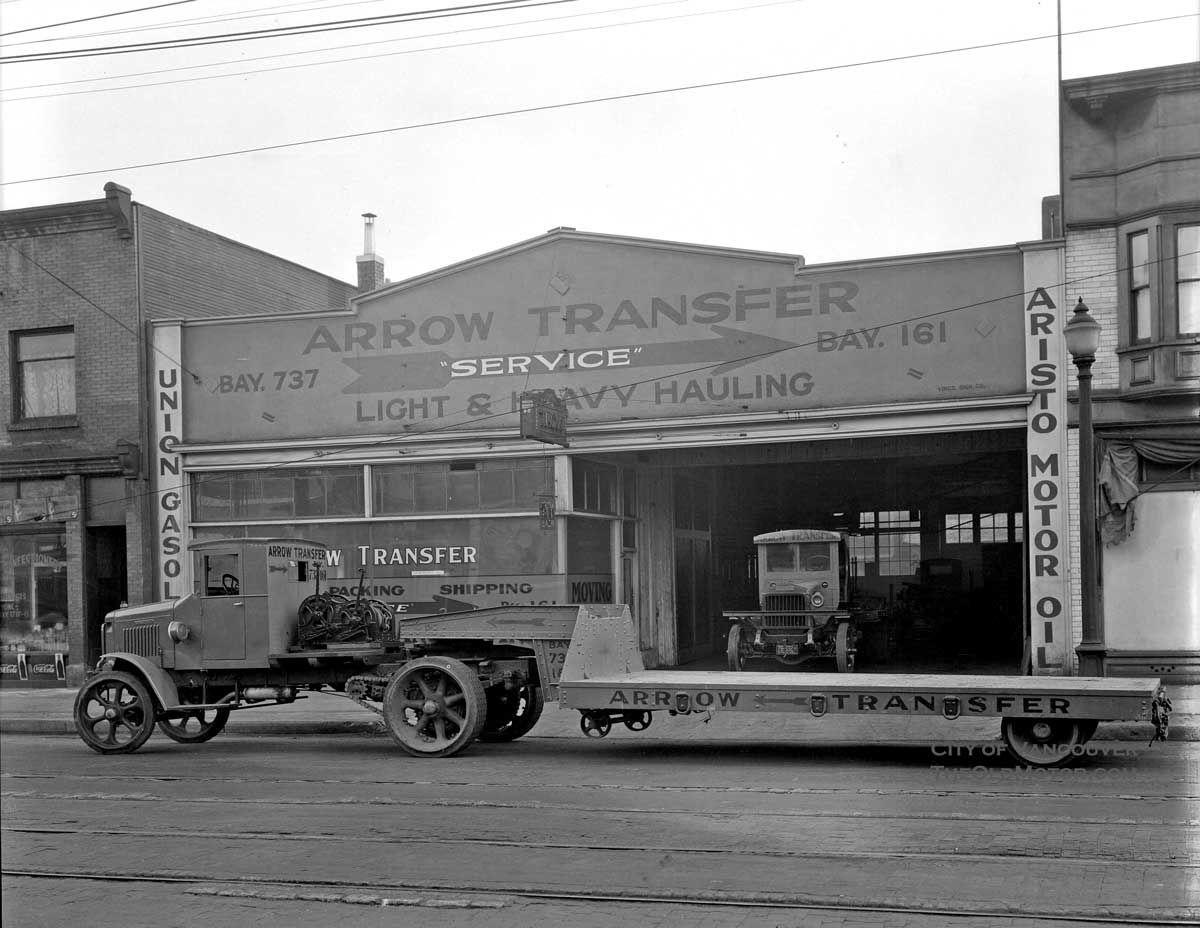 Arrow Transport Co.low boy Antique trucks, Automobile
