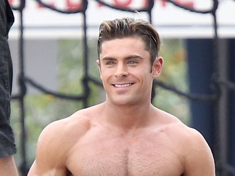 Zac Efron Rocks A Hot Beach Bod While Filming Baywatch