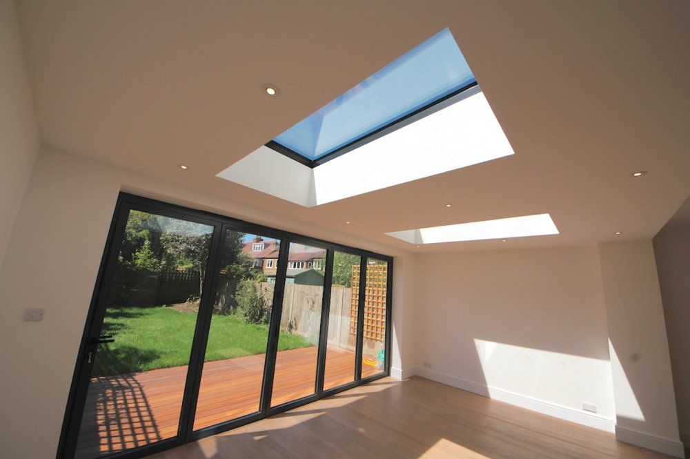 Rear Extension With GRP Flat Roof, South .
