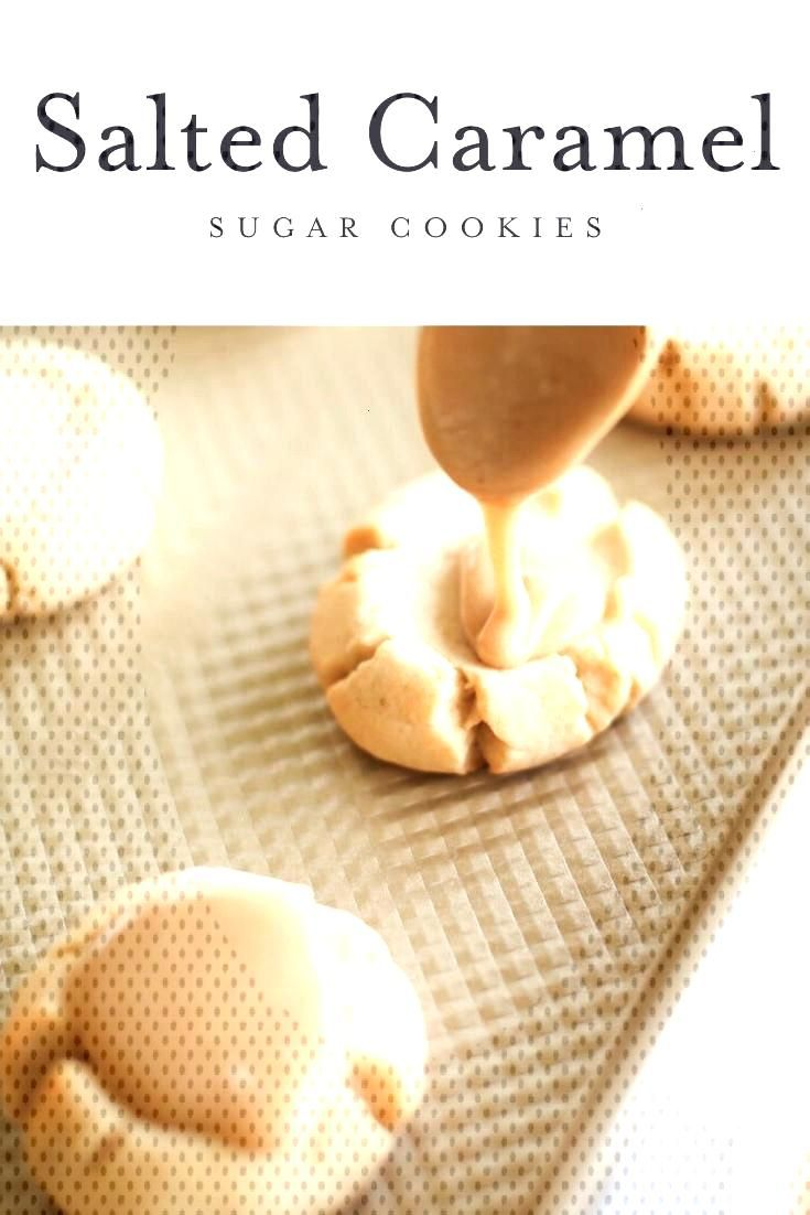 Amazing salted caramel sugar cookie recipe - a soft sugar cookie base with a brown sugar caramel ic