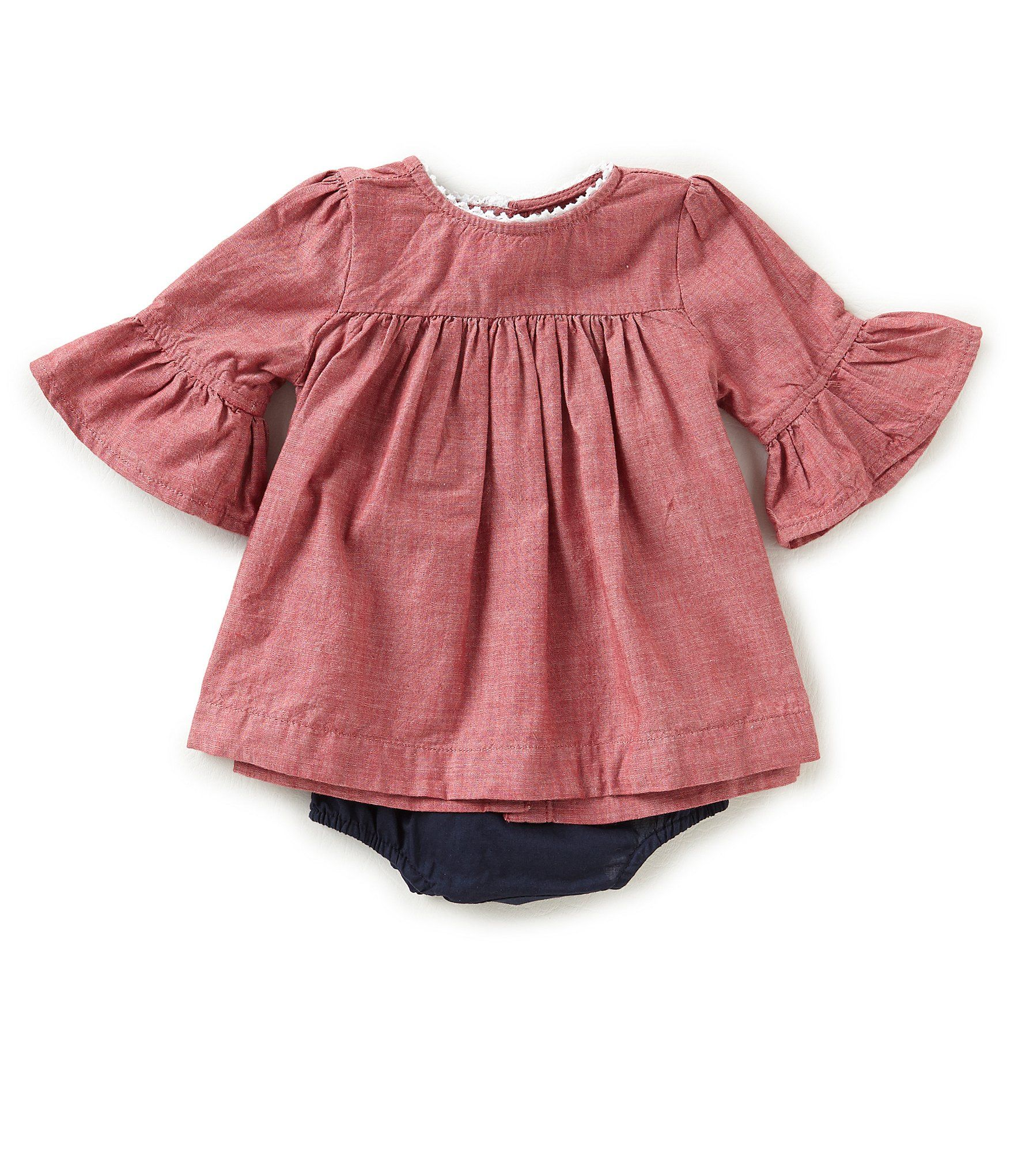 Blu and Blue Baby Girls Newborn24 Months Chambray ALine Dress