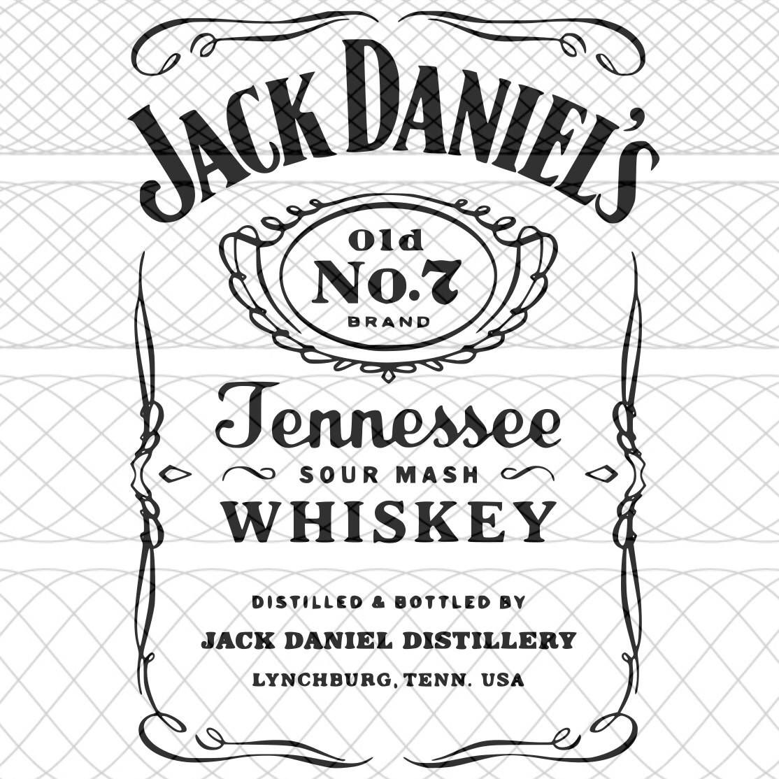 Jack Daniels Label Svg And Studio3 Cut Files T