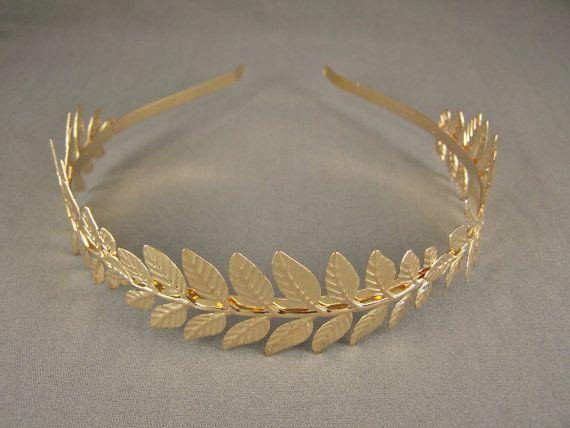 Gold//Silver Laurel Leaf Leaves Headband Hair Band Tiara Greek Toga Roman Costume