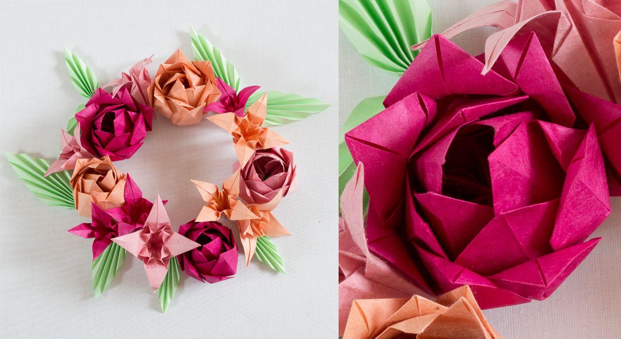 origami une fleur de lotus multiple d co pinterest. Black Bedroom Furniture Sets. Home Design Ideas