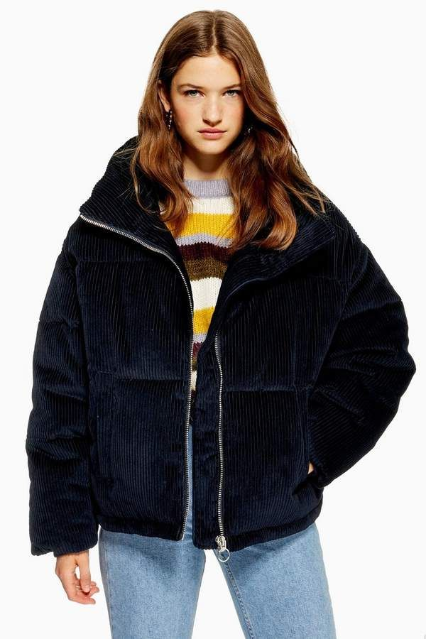 Chunky Corduroy Puffer Jacket | Puffer jacket outfit ...