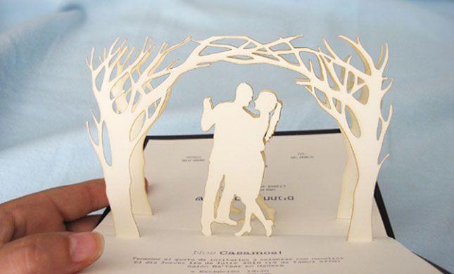 25 Super Creative Invitations Pop Up Invitation Creative Wedding Invitations Wedding Invitations Diy Pop up wedding cards