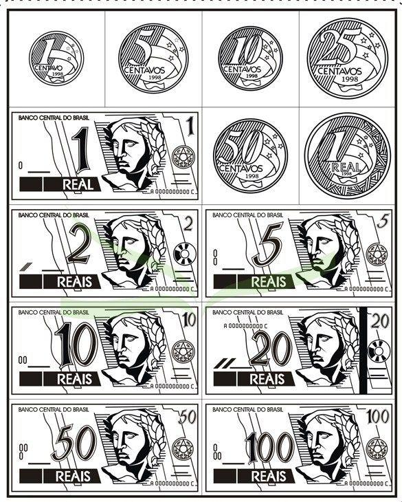 Pin Do A Mariana Matias Em Desenhos Para Pintar: Desenho De Dinheiro Para Imprimir