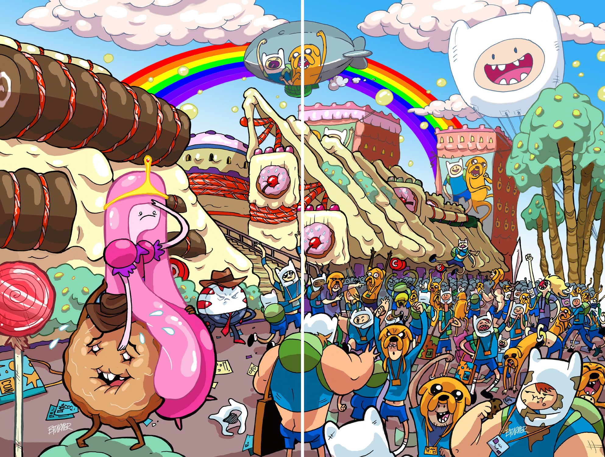 [SDCC 2013 Exclusive] BOOM! Studios - Connecting Covers - Adventure Time: Candy Capers #1 & Adventure Time #18 - $10