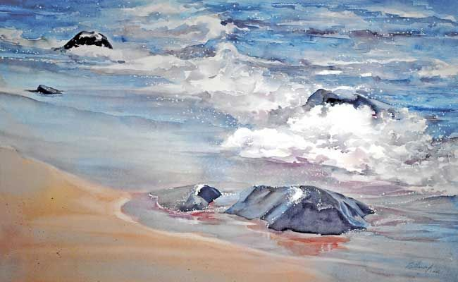 Catherine Hearding WATERCOLOR | Watercolor: Beach - Shells | Pinterest