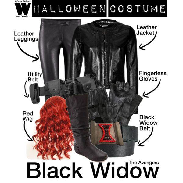 Black widow superhero costume diy