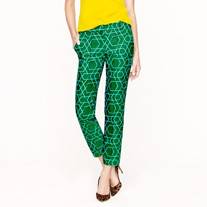 patterned capri pants - Pi Pants