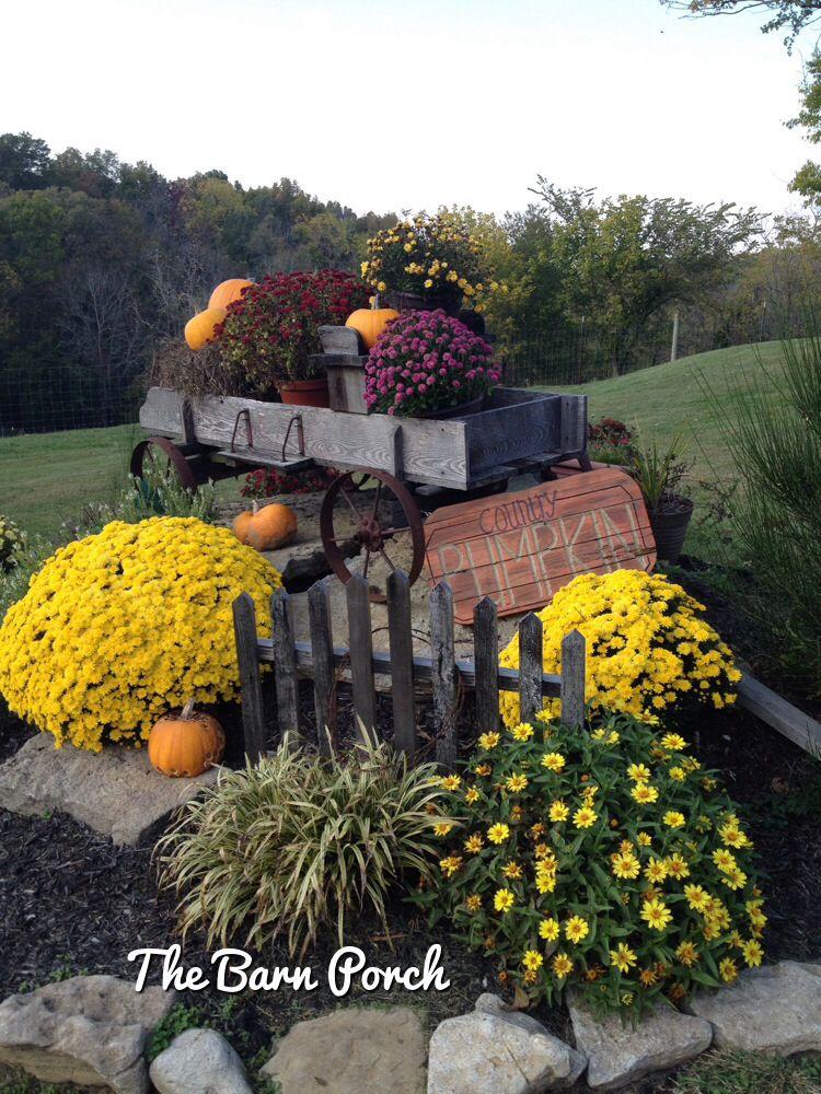 Outdoor Fall Wagon Decorating Fall Decorating Fall Decor Rustic