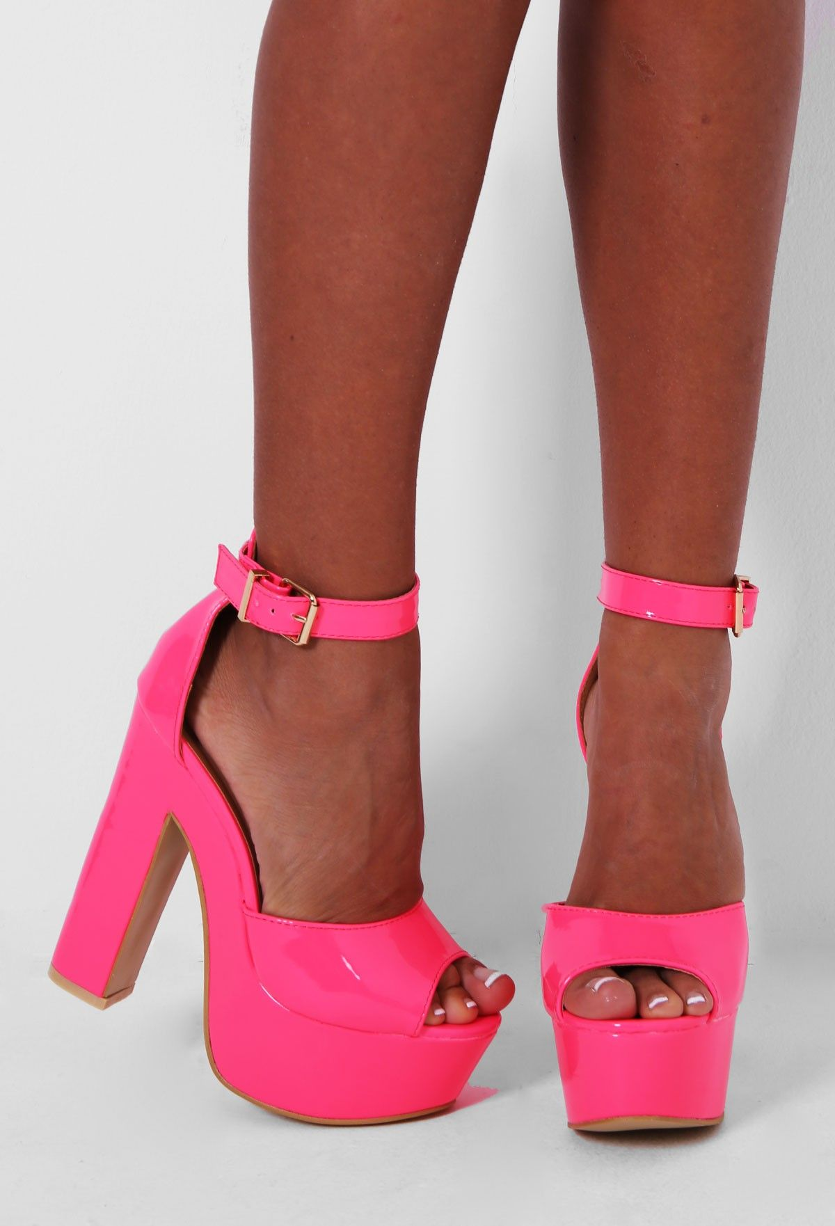 Pink Boutique Barbiella neon pink #platform #shoes http://www ...