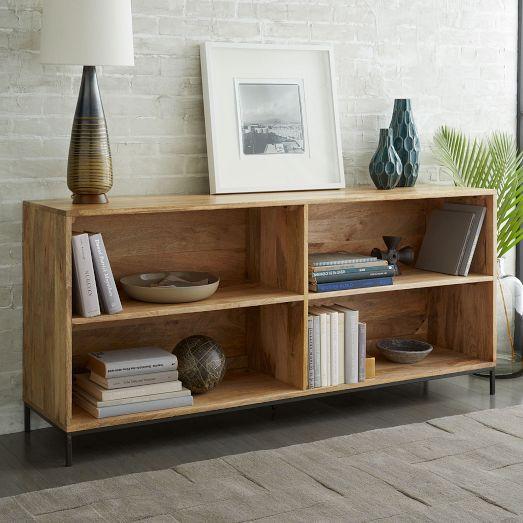 Rustic Storage Modular Bookcase Low Bookshelves Low Bookcase Furniture