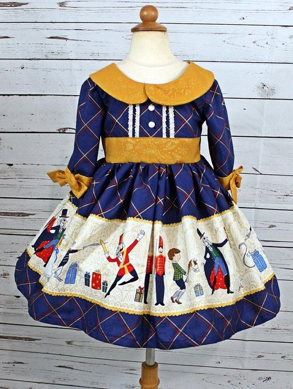 db4cf9f9b9d9 Girls Nutcracker Dress Girls Christmas Dress Toddler girls