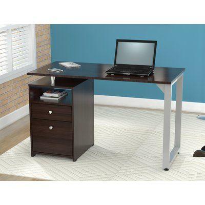 Orren Ellis Caddell Engineered Wood Desk Wood Desk Desk