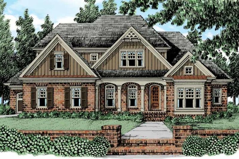 European Exterior - Front Elevation Plan #927-474 For the Home in