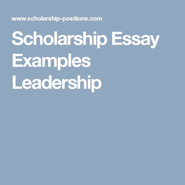 Interview Essay Paper  How To Write Essay Proposal also How To Write A Good English Essay Scholarship Essay Examples Leadership  Scholarship  Essay  Argumentative Essay Proposal