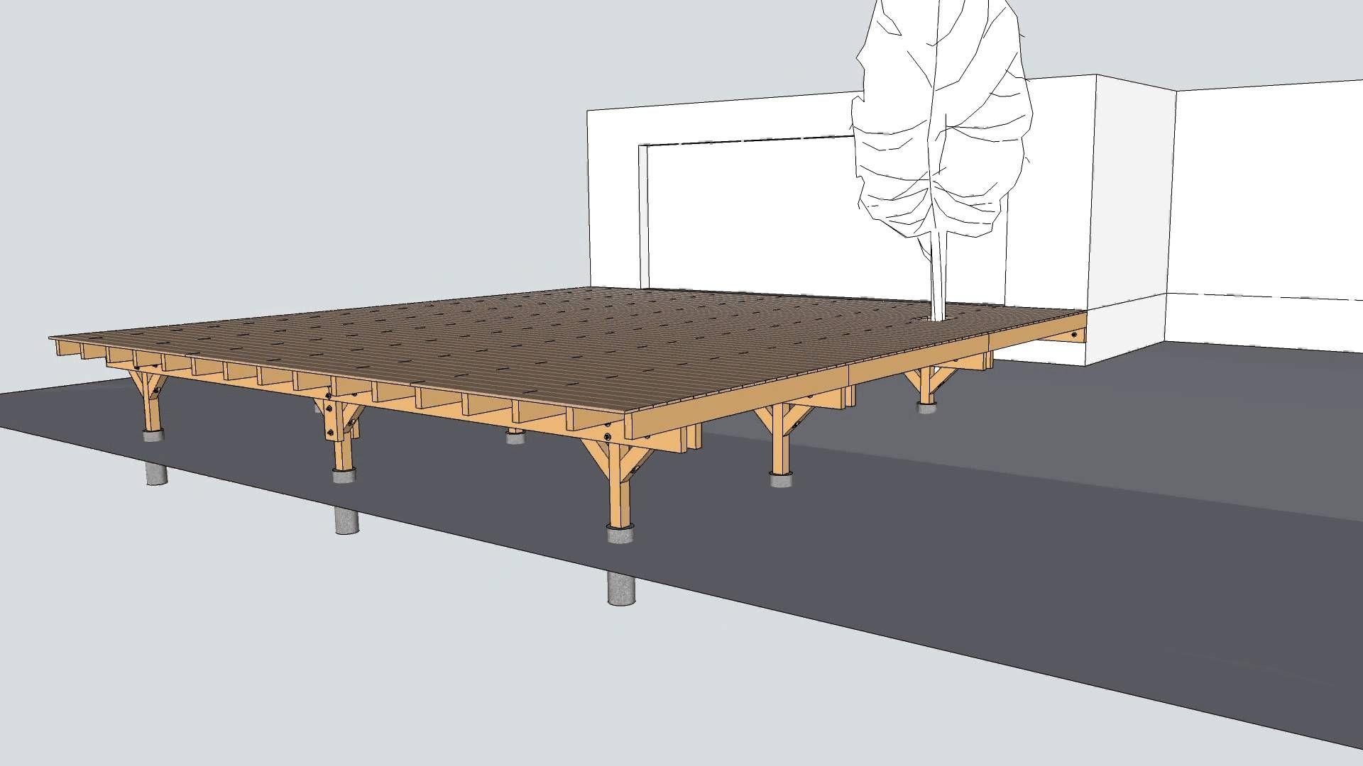 Terrasse Sur Pilotis - Vidéo De La Structure