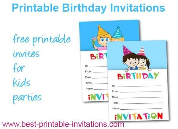 17 Best images about Printable Invitations – Printable Birthday Invitations for Kids