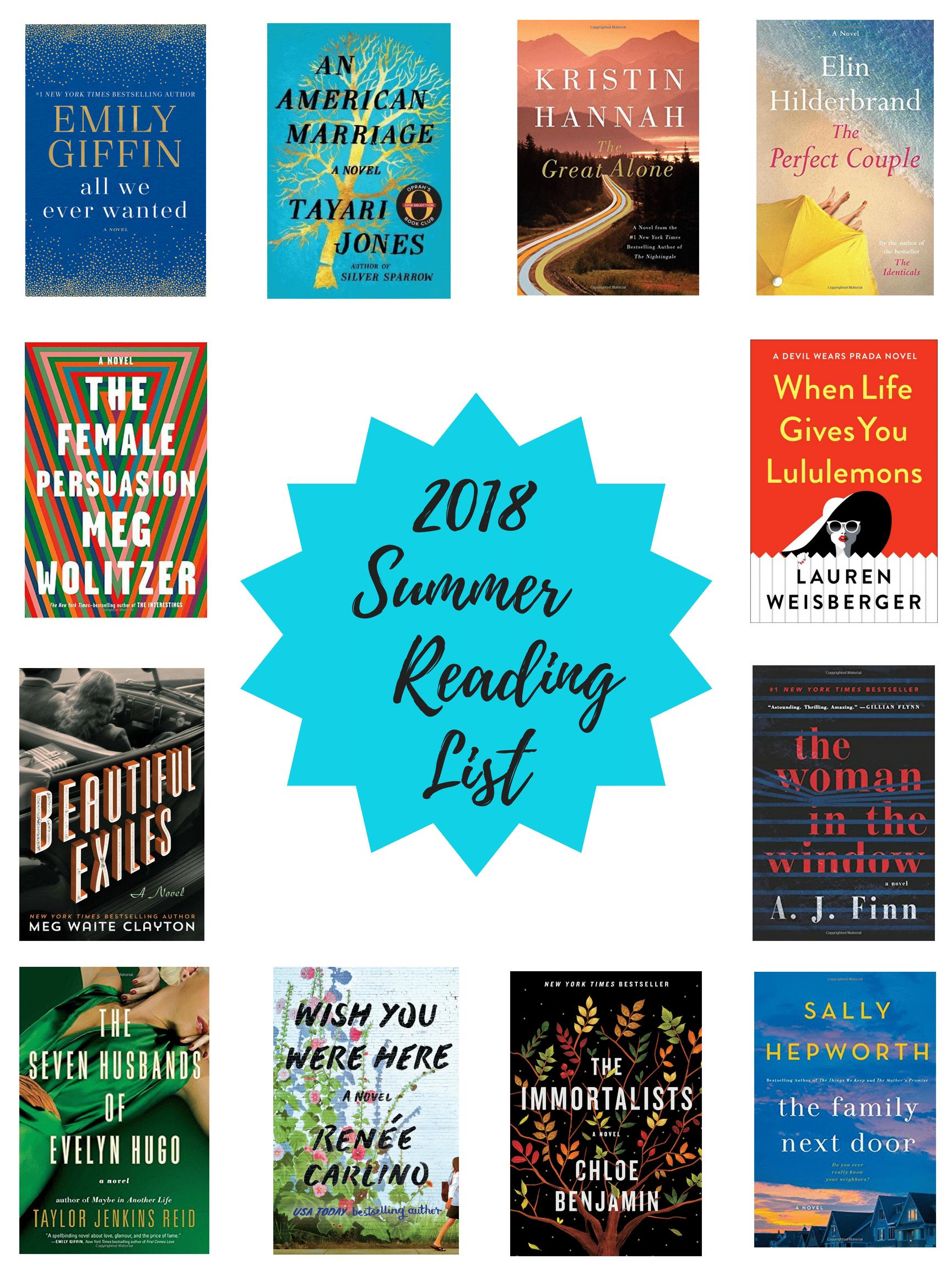 2018 Summer Reading List - Summer Reading List 2018