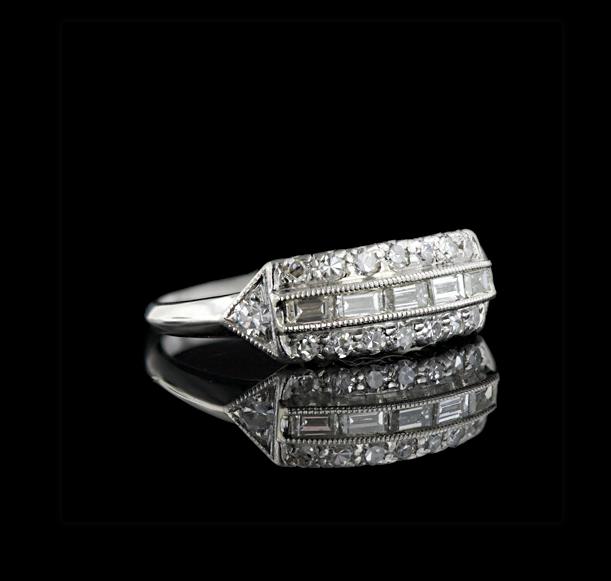 antique art deco wedding ring