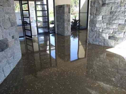 Polishing the concrete floor types of concrete rough for Buffing stained concrete floors