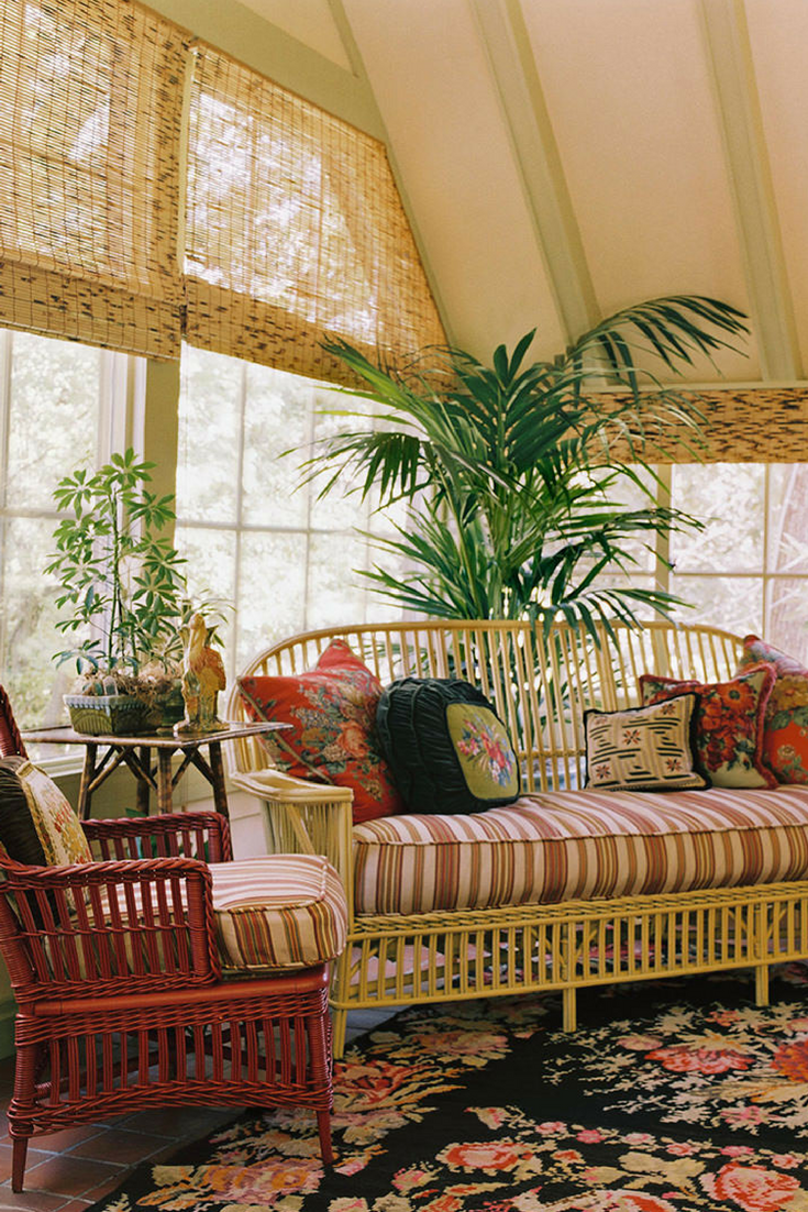 8 Sunroom Paint Color Suggestions You Will Love Wicker Furniture Decorating Ideas Bohemian Decor Design