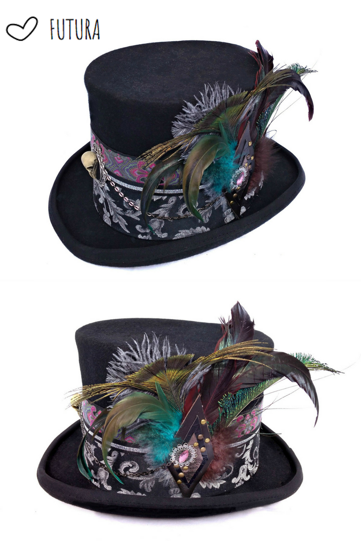 da79e743a3e8d3 Gothic Top Hat for Women | Victorian Hat | Steampunk | Burning man Festival  Hat Designed