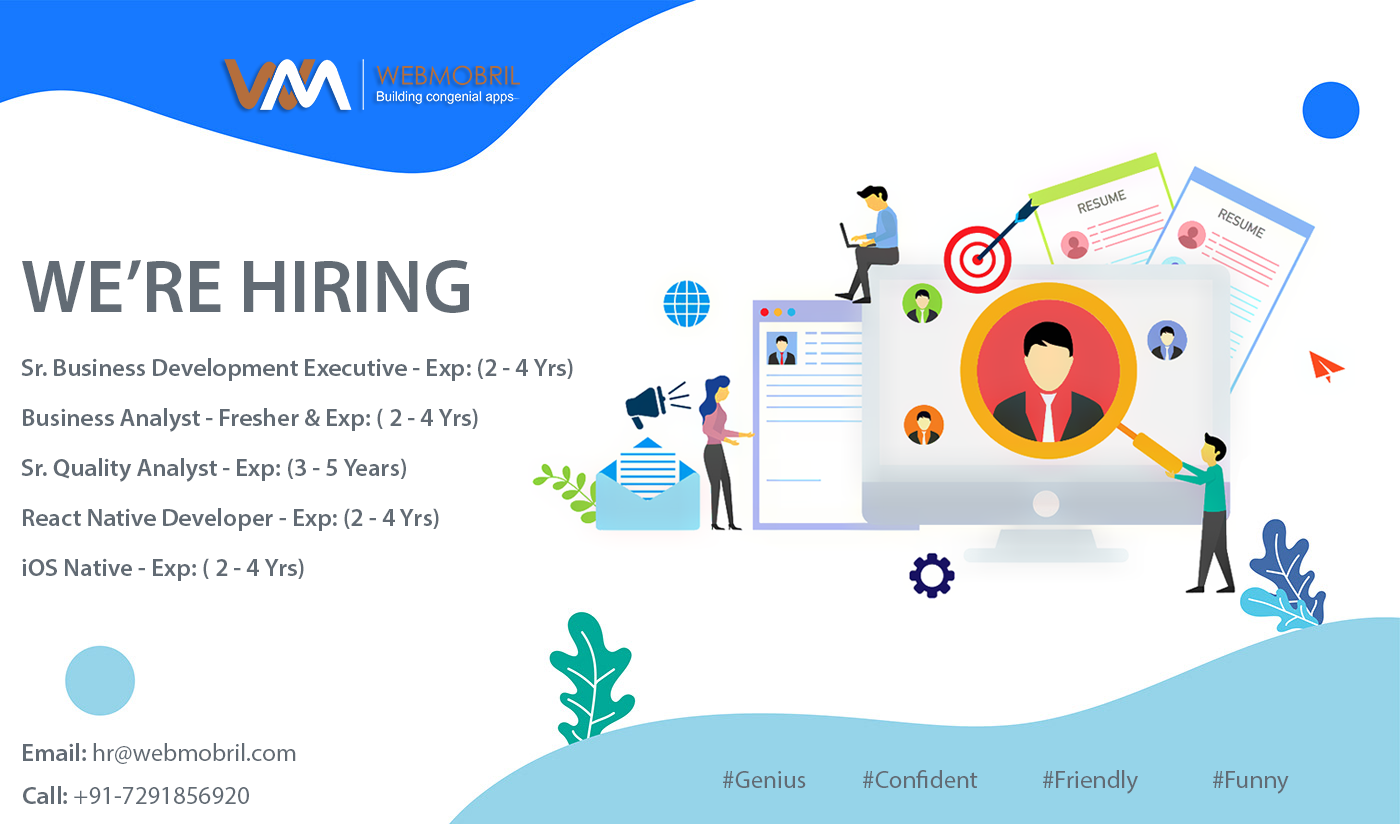 Hiring In Webmobril Digital Marketing Company Hiring Poster Help Wanted Ads