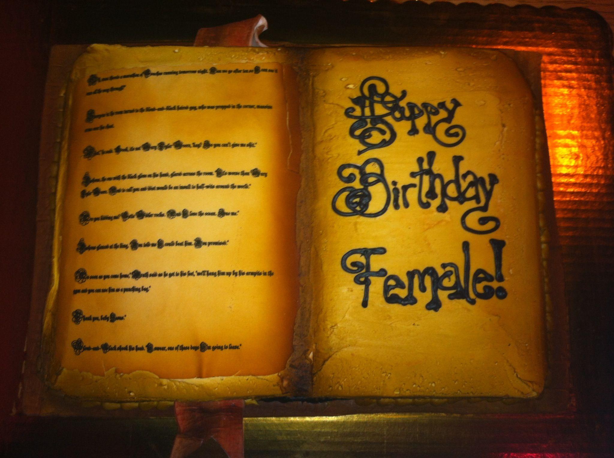 Black Dagger Brotherhood Birthday Cake!
