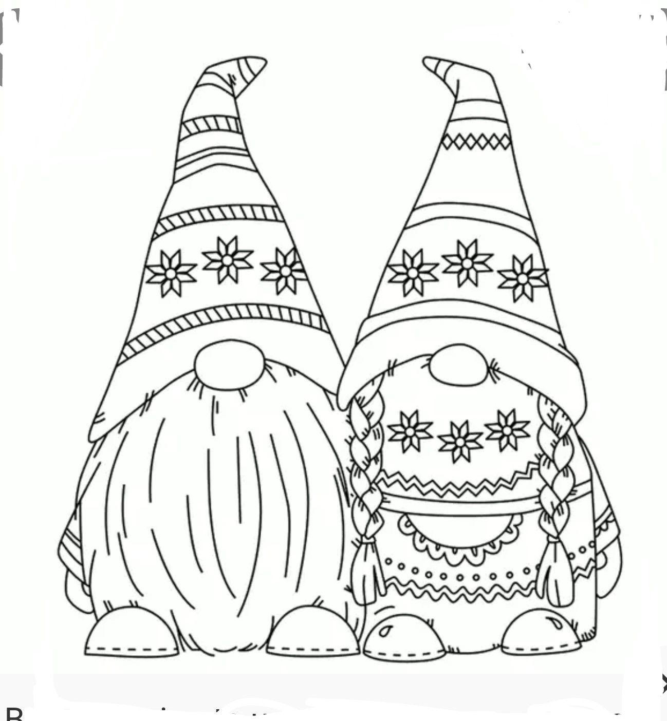 Free Valentine Gnome Coloring Pages   Novocom.top
