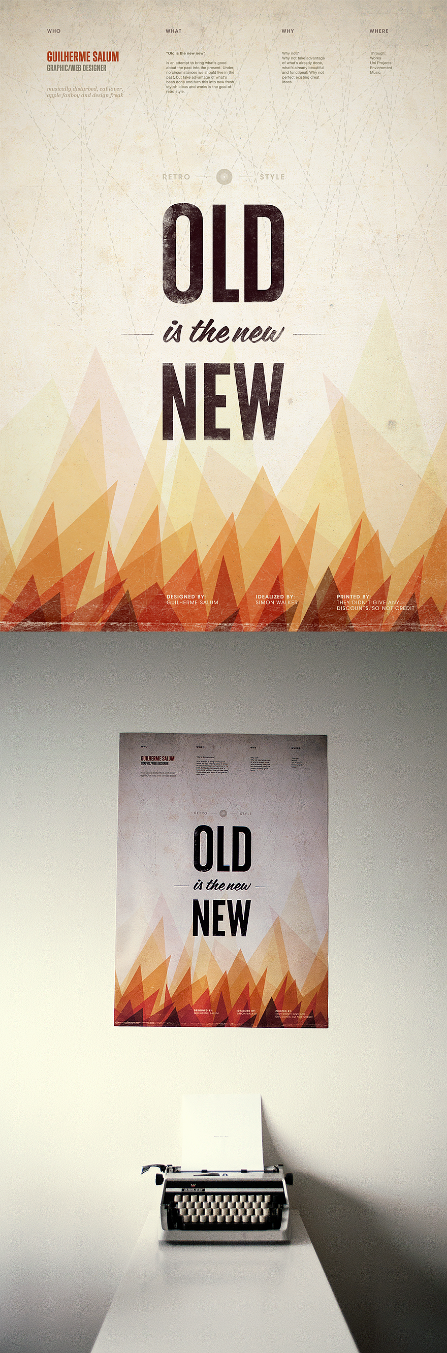"""""""Old is the new new"""" by Guilherme Salum. #texture"""