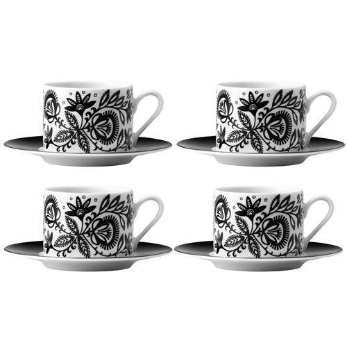 LSA Ania Teacup u0026 Saucer Black u0026 White x 4 Striking LSA Porcelain Tableware This  sc 1 st  Pinterest & LSA Ania Teacup u0026 Saucer Black u0026 White x 4 Striking LSA Porcelain ...