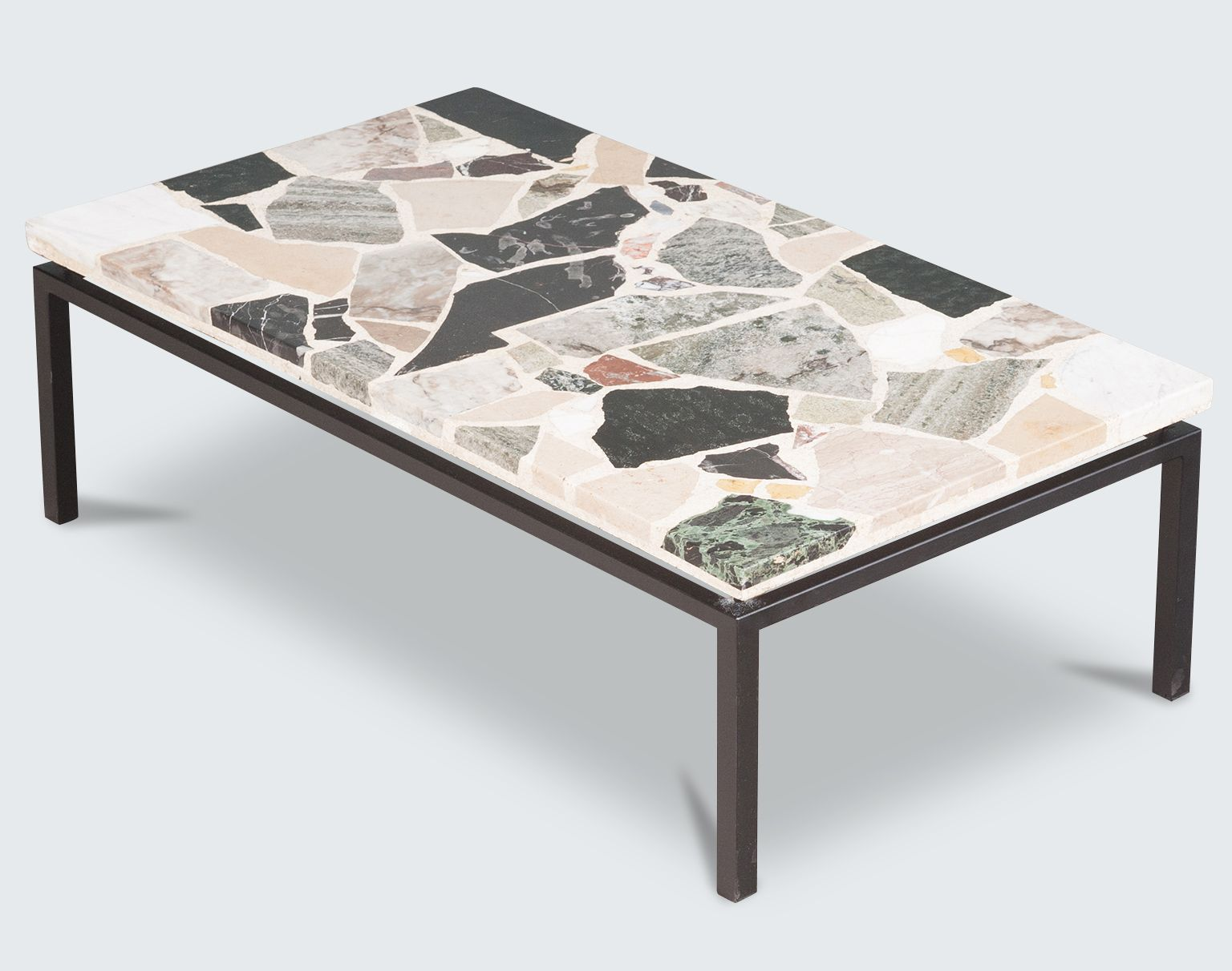 terrazzo coffee table furniture and lighting pinterest quai branly branly et maxime. Black Bedroom Furniture Sets. Home Design Ideas
