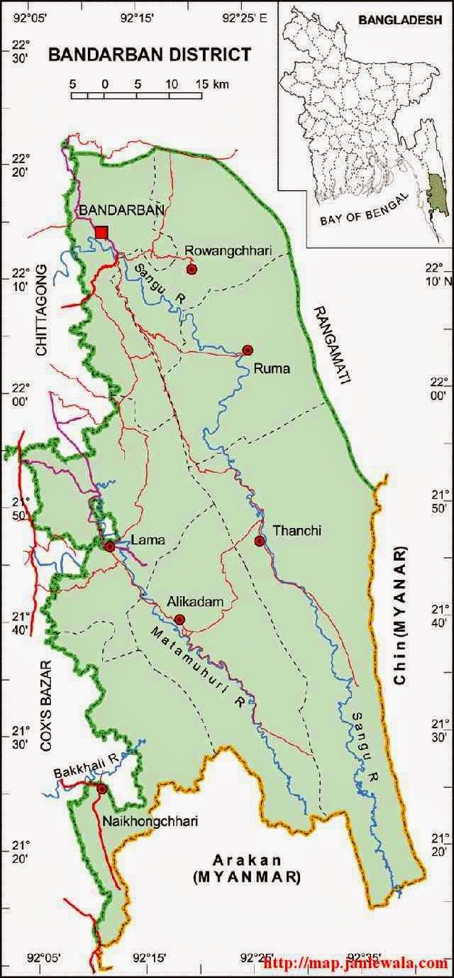 chittagong city map bangladesh Bandarban Zila Map Chittagong Division Bangladesh Map Chittagong Bangladesh chittagong city map bangladesh