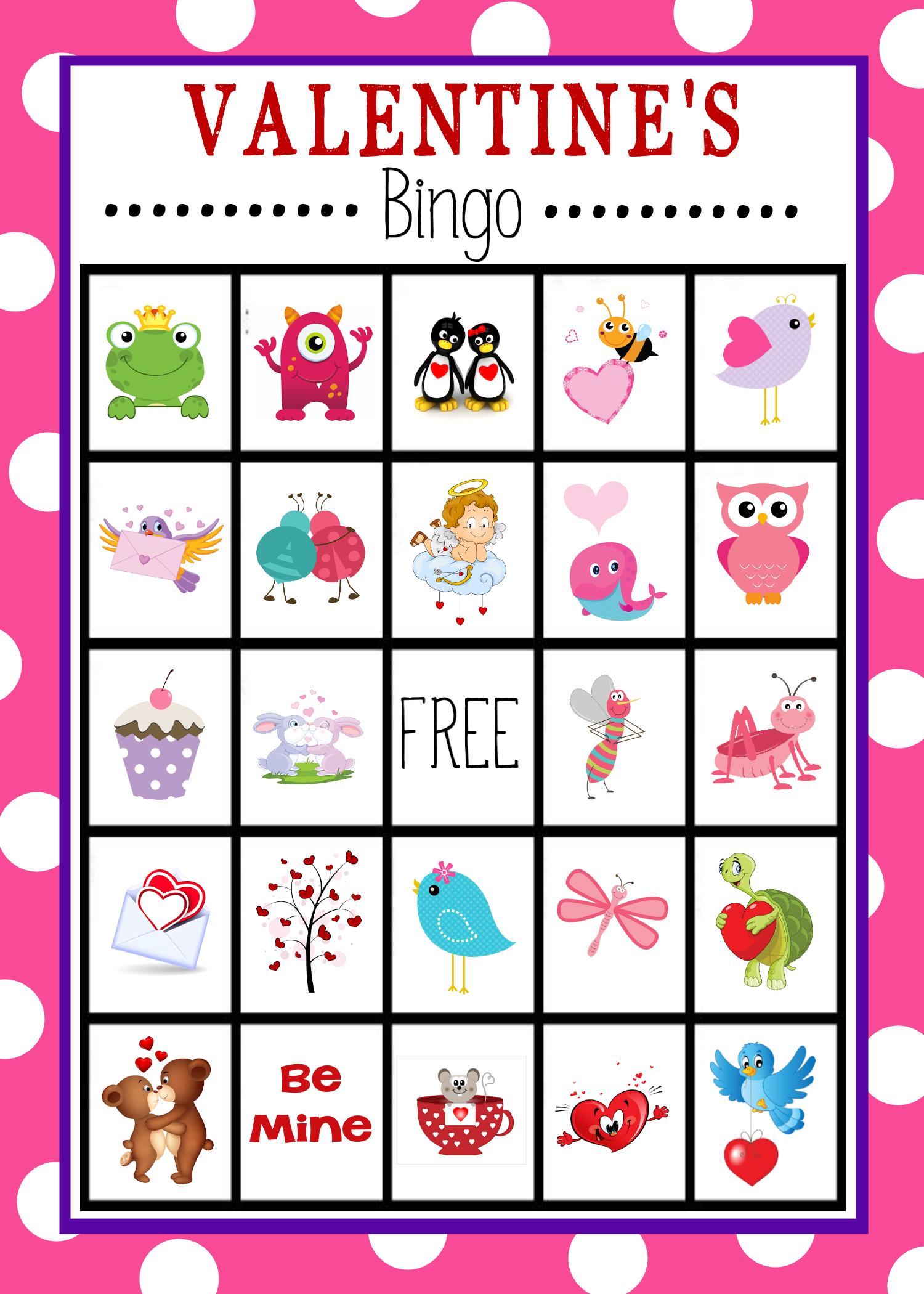 image about Printable Kid Valentines named Valentines Bingo Recreation toward Print Participate in Valentines Working day