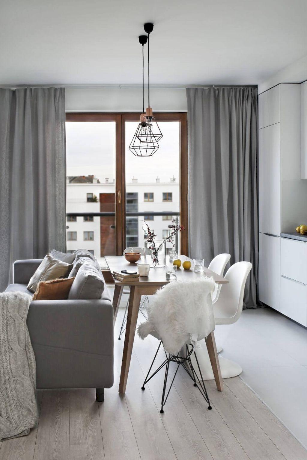 70 Genius Small Dining Room Design Ideas Small Apartment Interior Interior Design Apartment Small Scandinavian Dining Room