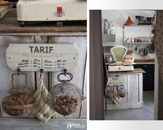 un comptoir d 39 picerie en guise d 39 lot central de cuisine deco recup pinterest ilot. Black Bedroom Furniture Sets. Home Design Ideas