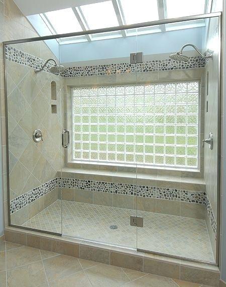 Glass Block Windows In Showers Master Bath Shower With Large Glass Block Window Sunlight With P Window In Shower Cheap Bathroom Remodel Bathroom Remodel Master