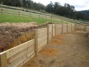 Build Retaining Wall Against Fence Building