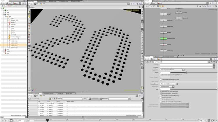 Houdini SOP Tutorial - Procedurally cutting holes in a grid - why sop is used