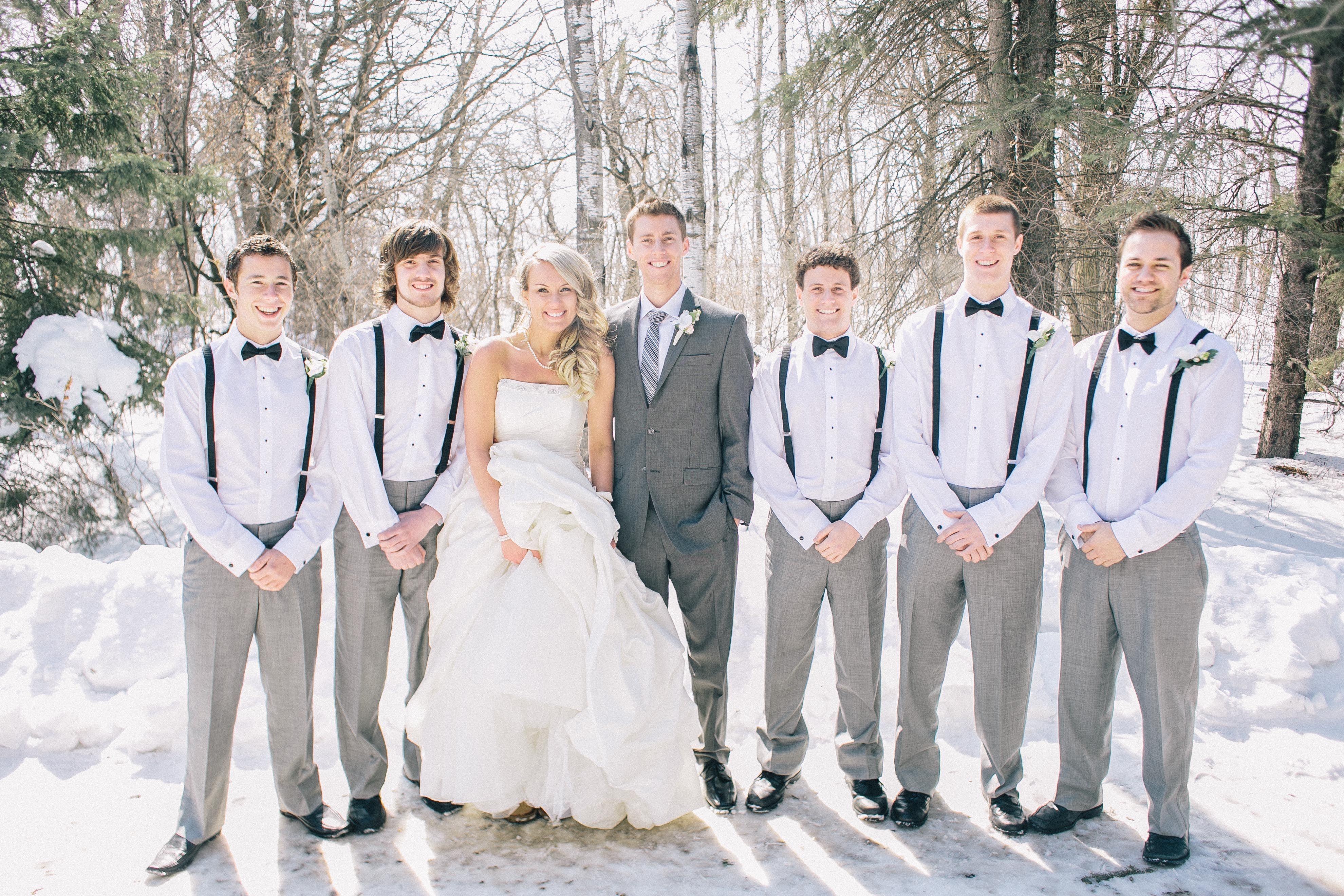 suspenders groomsmen bow ties wedding planning