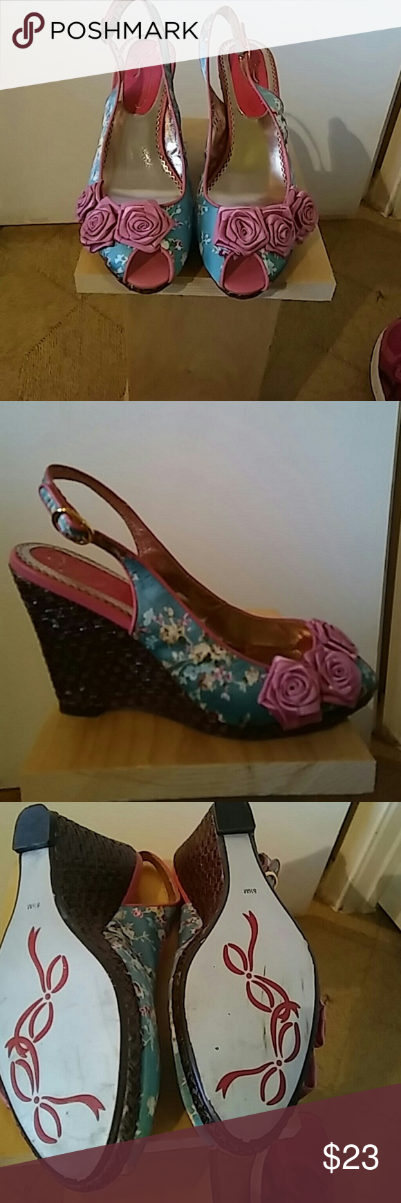 Poetic licence London wedges Peep hole rose beauties(so comfortable) Poetic Licence London Shoes Wedges