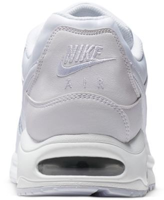 huge selection of ac248 905f0 Nike Men s Air Max Command Leather Casual Sneakers from Finish Line - White  8.5