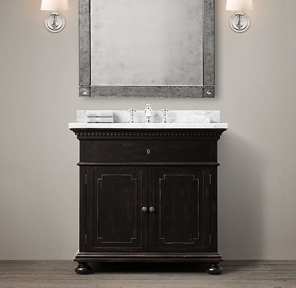 St James Single Vanity Sink Silent Forest Downstairs Guest