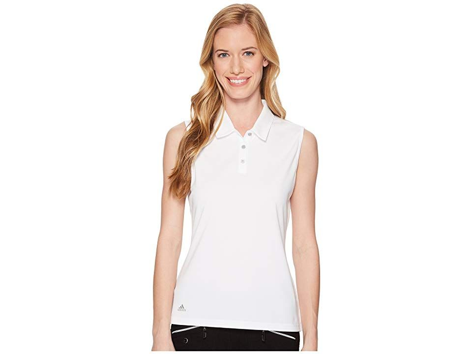 cbbbde6e65d42 adidas Golf Performance Sleeveless Polo (White) Women's Sleeveless. Ditch  the sleeves and tee