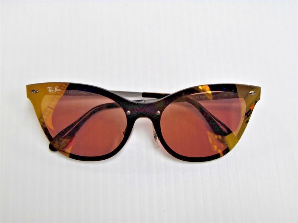 d478362c098 RAYBAN RB 3580-N BLAZE CAT EYE 9037 7j 140 2N Gold Frame Pink Mirror ...